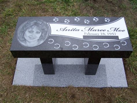 bench headstones pet memorial markers and headstones dog breeds picture