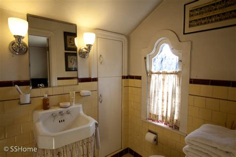 yellow bathroom 1930 s style home of designer