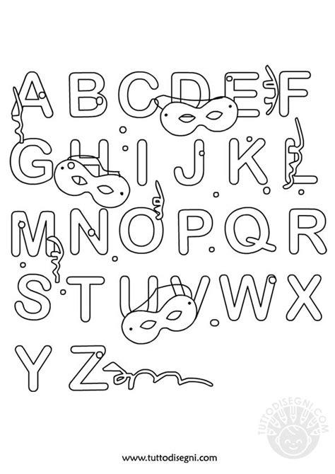 lettere alfabeto da colorare scuola infanzia alfabeto di carnevale da colorare tuttodisegni