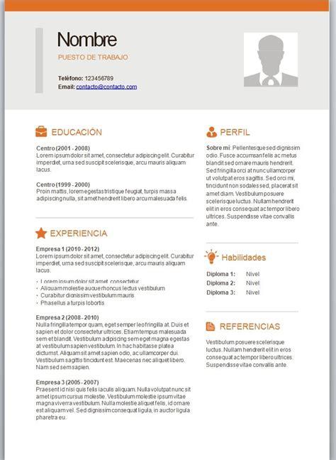 Plantilla De Curriculum Vitae En Word Modelos De Curriculum Vitae En Word Para Completar