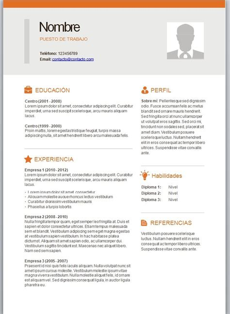 Modelos De Curriculum Vitae Con Foto Para Completar Y Descargar Modelos De Curriculum Vitae En Word Para Completar