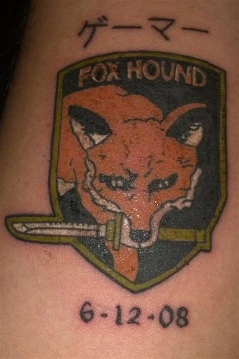 foxhound tattoo foxhound custom by 2barquack on deviantart