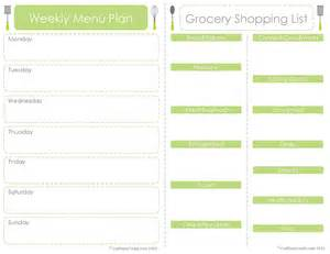 menu planner with grocery list template 30 day meal planner template calendar template 2016