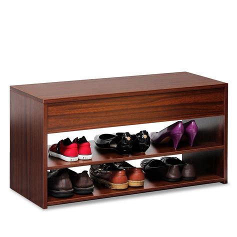 shoe storage cubicles basicwise wooden shoe cubicle storage entryway bench with