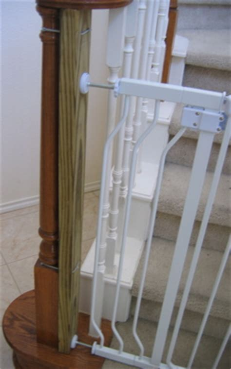 baby gate banister mount baby gates that won t ruin wood