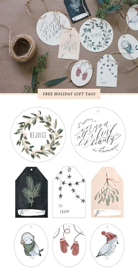printable cardstock tags the best free christmas printables gift tags holiday