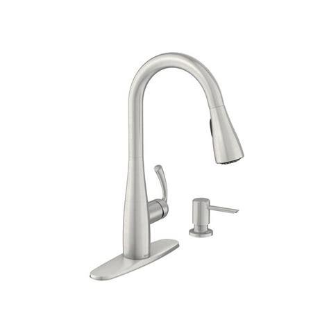 moen 7570bl salora black pullout kitchen faucet free faucet com 87014srs in spot resist stainless by moen