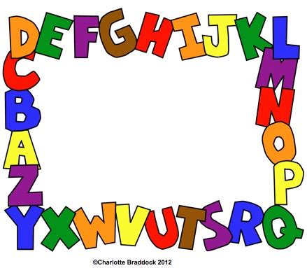 printable alphabet letters to frame charlotte s clips and kindergarten kids printable abc