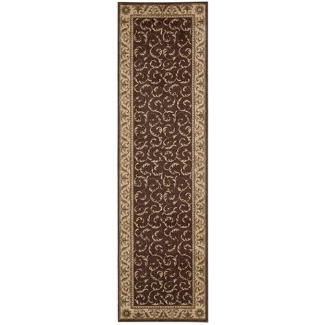 rug runners 2 x 5 nourison somerset brown 2 ft x 5 ft 9 in rug runner 047816 the home depot