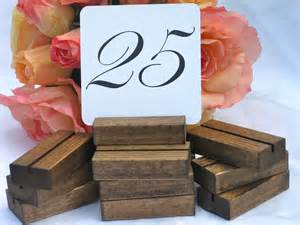 Table Number Holders Gold Rustic Wedding Wood Table Number Holders Set Of 25