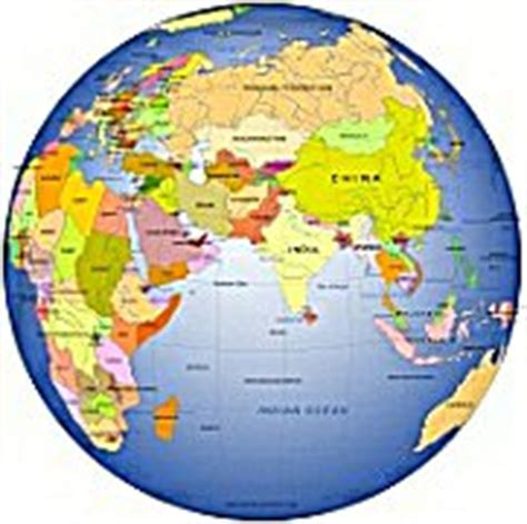 globe map with country names middle asia centered globe with country name on gradient
