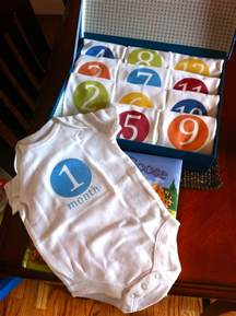 baby shower gifts diy monthly onesies baby shower gift stylish spoon