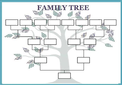 best photos of large blank family tree template