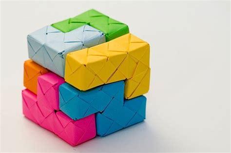 Origami Blocks - origami soma cube blocks