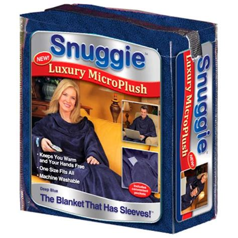 As Seen On Tv Blankets by As Seen On Tv Snuggie Micro Plush Soft Blue 1