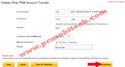 online reset pnb transaction password how to transfer fund money using pnb netbanking