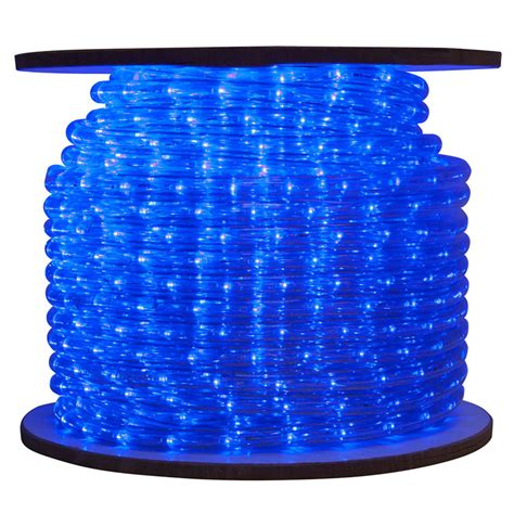 blue led commercial bulk rope tube light reel