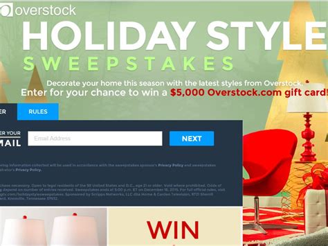 Overstock Sweepstakes - overstock com s holiday style sweepstakes sweepstakes