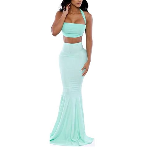 Mermaid Skirt Blue light blue mermaid crop top and skirt