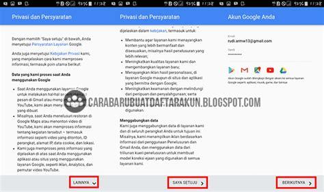 buat akun gmail baru coc buat akun google baru lewat hp android samsung galaxy
