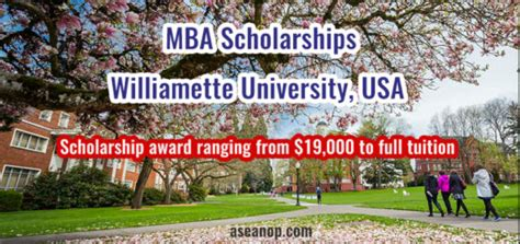 Mba With Scholarship Malaysia by Williamette Archives Asean Scholarships