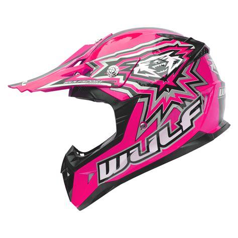 pink motocross helmet wulf cub flite xtra motocross enduro helm kinder