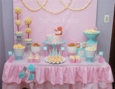 baby shower table f 234 te fanatic baby shower popcorn buffet