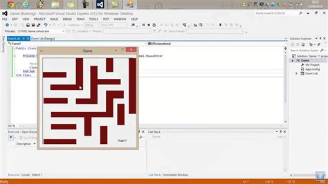 simple visual basic games tutorial visual basic maze game youtube
