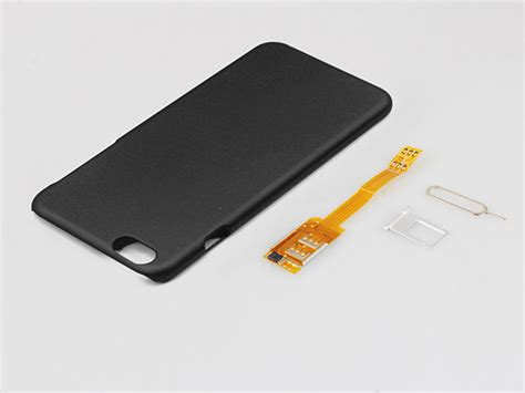 dual sim card for iphone 6s plus with back