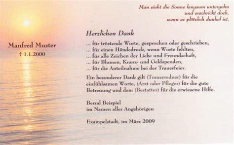 Vorlage Wohnungskündigung Bei Todesfall Danksagungskarte Beerdigung Sonnenuntergang Trauer