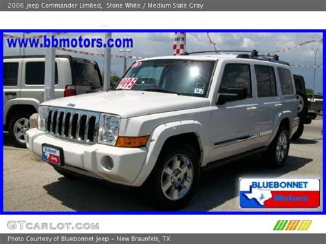 2006 Jeep Commander White White 2006 Jeep Commander Limited Medium Slate
