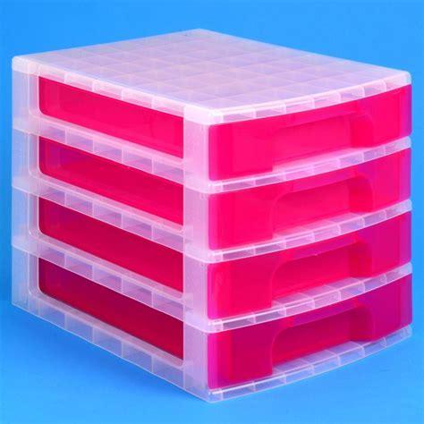 Plastic Desktop Drawers by Really Useful Desktop 4 Drawer Unit 20 Litre Plastic Storage Different Colours