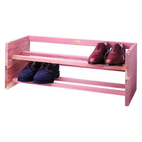cedar shoe storage cedar stackable shoe rack