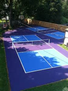Basketball Courts For Backyard - pickleball court surfaces backyard court builders