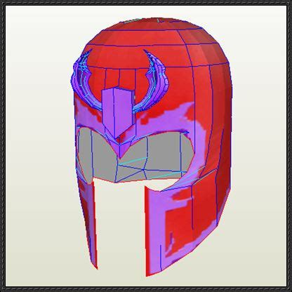 x men life size magneto helmet free papercraft download