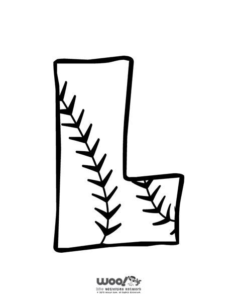 Baseball Alphabet Letter L Woo Jr Kids Activities