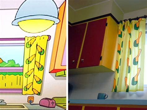 simpsons carrot curtains calgary couple remodels their real life kitchen to look