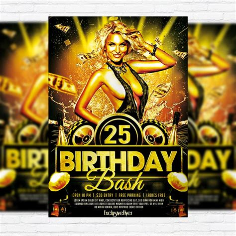 Birthday Bash Premium Psd Flyer Template Exclsiveflyer Free And Premium Psd Templates Bash Flyer Template