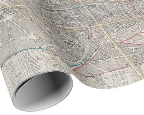 map craft paper vintage map gift wrap city pocket map by artanlei