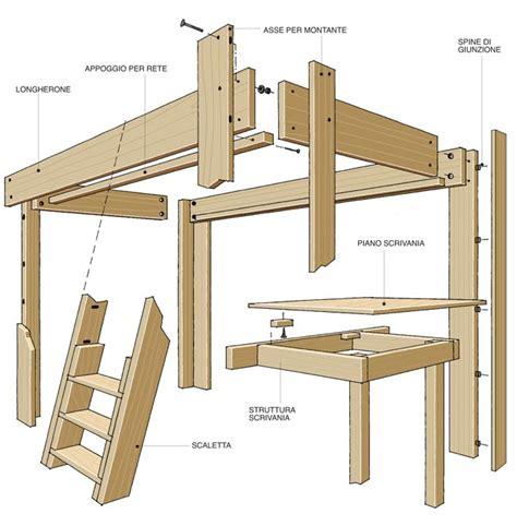 letti a soppalco matrimoniali legno costruire un letto a soppalco fai da te con scrivania dedicata