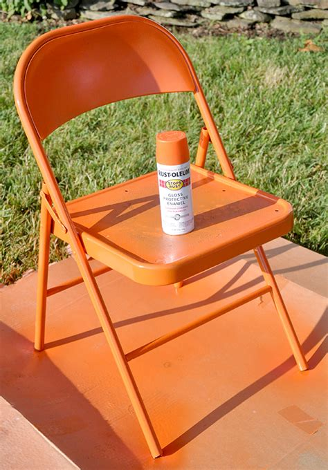 painting metal chairs fabulous metal folding chair makeover jacquelynne steves