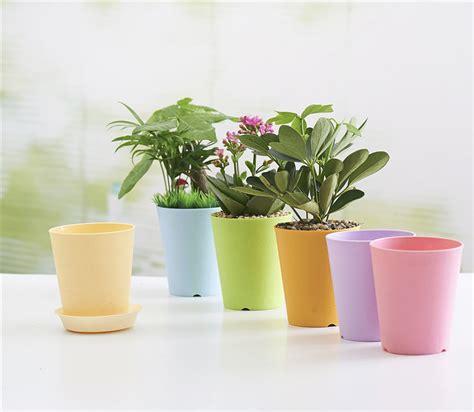 Black Vase Dekorasi Vas Pot Bunga Hias plastic pots for plants original 20pcs mini flower plant