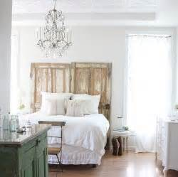 repurposing doors as bed headboard