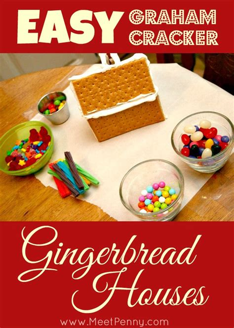 How To Make A Gingerbread House Out Of Paper - easy diy graham cracker gingerbread