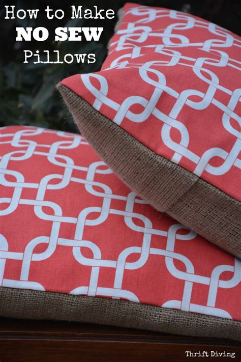 How To Make No Sew Throw Pillows by Who Needs A Sewing Machine Tutorial And On How To