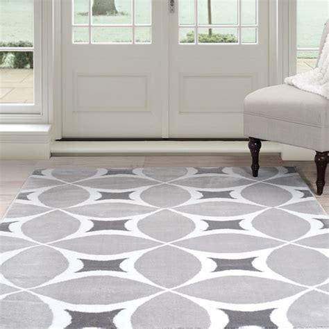 "Windsor Home Geometric Area Rug   Grey & White 3'3""x5"