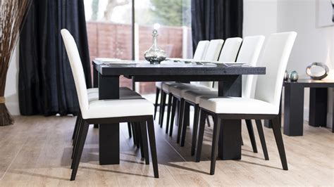black ash dining table and chairs black ash extending