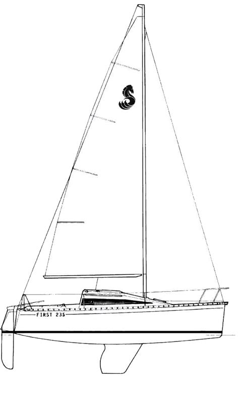 Home Drawing beneteau first 235 full f235 line drawing large
