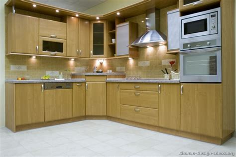 Pictures Of Kitchens Modern Light Wood Kitchen Corner Kitchen Cabinets Design