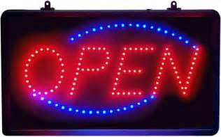 led open sign animated oval window led sign